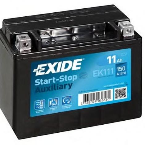 Аккумулятор Exide START-STOP (AGM) EK111 11Ач 12V 150A ПП гелевая