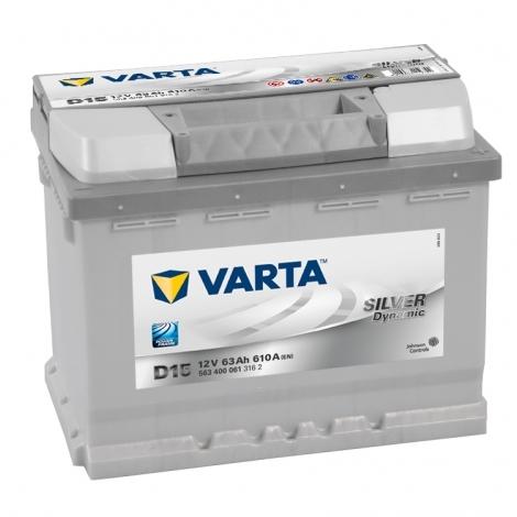Аккумулятор Varta Silver Dynamic D15 (563 400 061) 63 Ач ОП