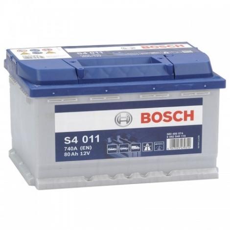Аккумулятор Bosch S4 011 (580 400 074)  80 Ач ОП