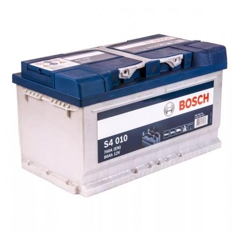 Аккумулятор Bosch S4 010 (580 406 074)  80 Ач ОП низкая