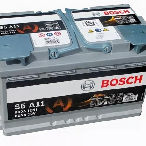 Аккумулятор Bosch S5 A11  (580 901 080) 80 Ач ОП AGM