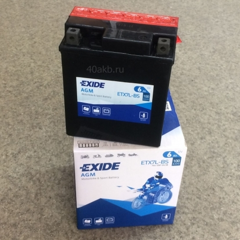 Аккумулятор EXIDE BIKE AGM ETX7L-BS