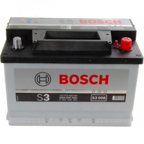 Аккумулятор Bosch S3 008 (570 409 064) 70 Ач ОП