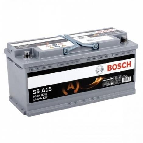 Аккумулятор Bosch S5 A15  (605 901 095) 105 Ач ОП AGM