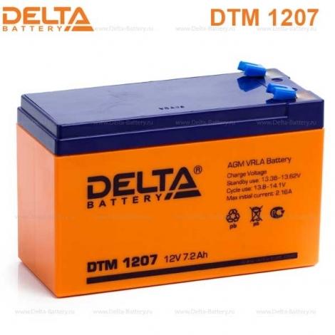 Аккумулятор Delta 12V DTM 1207