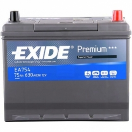 Аккумулятор Exide PREMIUM EA754 ОП высокая
