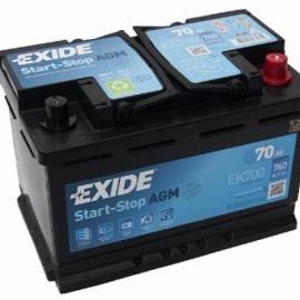 Аккумулятор Exide START-STOP AGM EK700 ОП гелевая