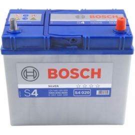 Аккумулятор Bosch S4 020 (545 155 033) 45 Ач ОП узкие клеммы