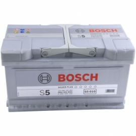 Аккумулятор Bosch S5 010  (585 200 080) 80 Ач ОП низкая