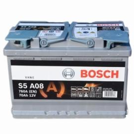 Аккумулятор Bosch S5 A08  (570 901 076) 70 Ач ОП AGM