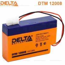 Аккумулятор Delta 12V DTM 12008