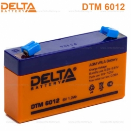 Аккумулятор Delta  6V DTM 6012