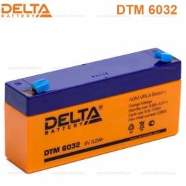 Аккумулятор Delta  6V DTM 6032