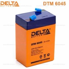 Аккумулятор Delta  6V DTM 6045