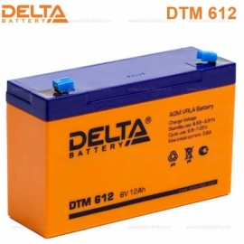 Аккумулятор Delta  6V DTM 612
